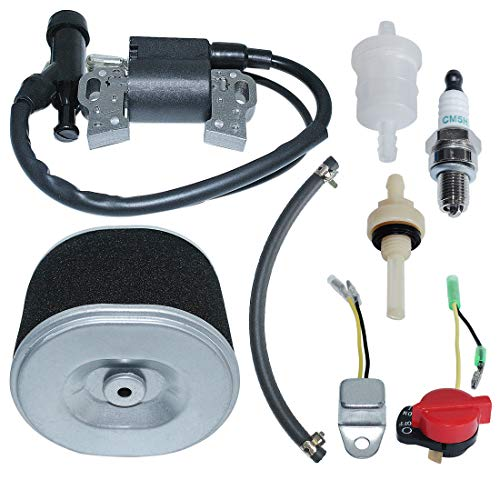 Lowest Prices! AUMEL Air Filter Ignition Coil Kit for Honda GX340 GX390 11HP 13HP Fuel Line Joint Fi...
