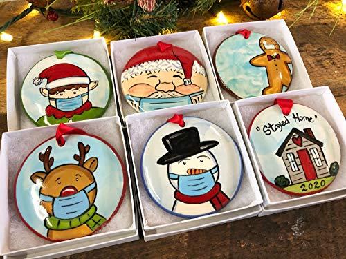 Nobrands Covid-19 - Decorazione per albero di Natale, divertente 2020 in quarantena, ideale come regalo per la famiglia o per Natale