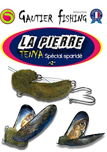 Pesca dell'orata montaggio cozza - TENYA - Pietra di Marsiglia - Esca speciale per orata - 60 gr + 20 elastico - Porta esche - Pesca verticale o in piedi