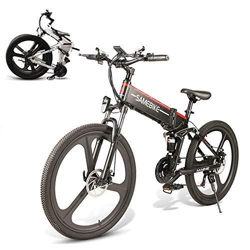 CAMTOP Bicicletas Eléctricas Plegables Adulto Ebike Bici de Montaña Hombre Mujer 26 Pulgadas 350W 48V / 10Ah Batería extraíble de Iones de Litio (Llanta Negra de una Pieza)