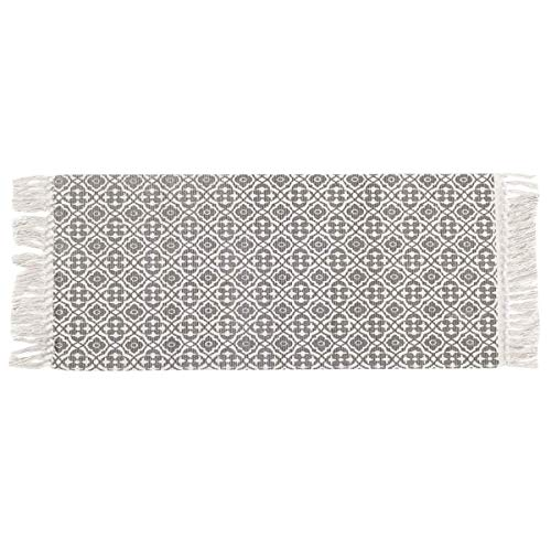 Pauwer Bomullsområde matta med tofsar tryckt handvävd matta löpare 60 x 130 cm tvättbar matta för entré sovrum vardagsrum