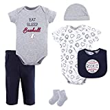 Hudson Baby Unisex Baby Cotton Layette Set, Baseball, 3-6 Months