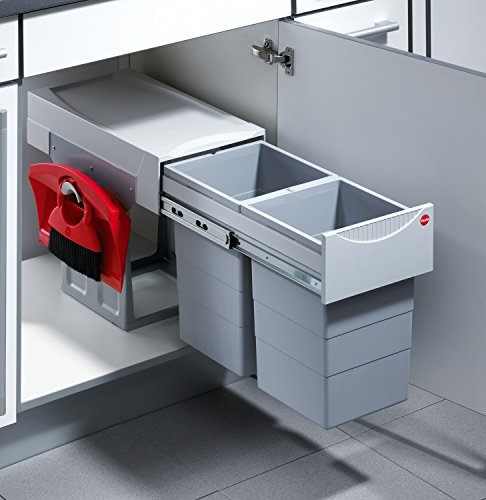 Hailo Tandem 7 K Abfallsystem Drehtür Vollauszug / 2x 15 Liter / 40 cm