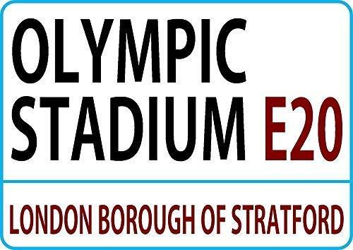 LynnYo22 Olympisch Stadion Londen Straat Stijl Metalen Teken 8x12