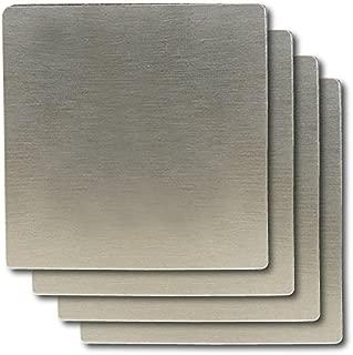 Thirsty Rhino Merendo Stainless Steel Beverage Coaster (Square Set of 4)