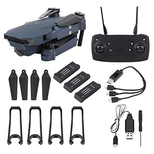Jacksking Kamera Drohne, 2.4G Faltbare tragbare Quadrocopter WiFi 2MP Kamera App Control Drohne & 4 zusätzliche Batterien, Faltbare Drohne