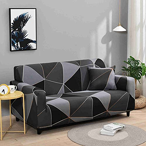 DWSM - Juego de funda elástica para sofá 1 2 3 4 plazas, extensible, funda de protección extensible con reposabrazos (I,4 plazas)