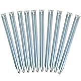 Yaheetech 10 x Heringe Zeltnägel Zeltpflöcke Steinbodenhering Felsbodenhering Zelt aus Stahl