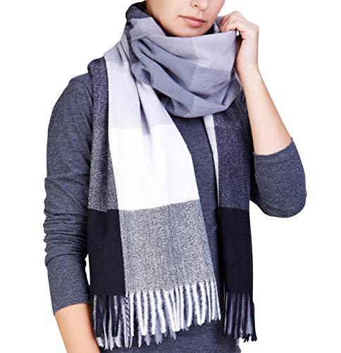 XXL Karo sjaal 200x70cm FASHION LONG met franjes Topkwaliteit plafond sjaal