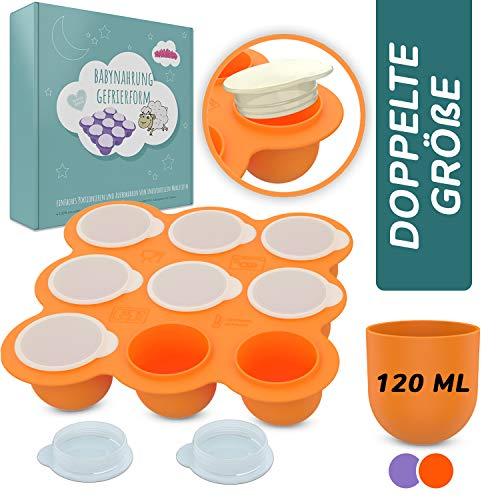 NEU! BAMBARAMBA® Babybrei Einfrieren - Extra große Aufbewahrung für Muttermilch & Selbstgekochte Babynahrung - Beikost-Behälter zum Einfrieren und Portionieren jetzt Farbe wählen
