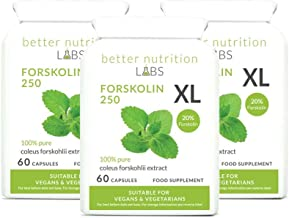 Forskolin 250 XL – High Strength Coleus Forskohlii 20 Forskolin 3 Month Supply – 180 Capsules Estimated Price : £ 107,95