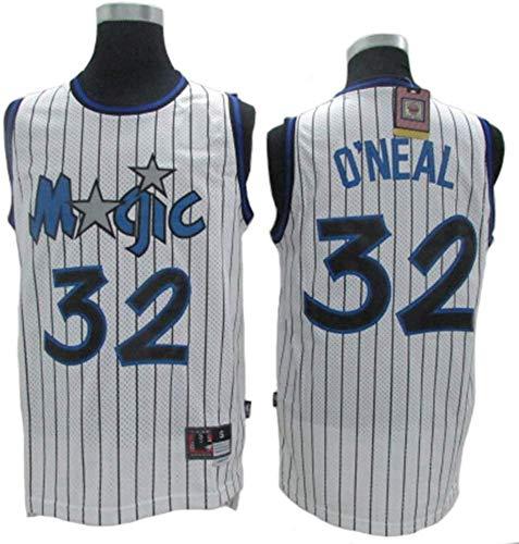 SP-Sport Shaquille O'Neal Maglia da Basket NBA Orlando Magic 32# Retro Jersey, Classic Retro Jersey, Confortevole/Leggera/Traspirante Maglia Ricamata Unisex Felpa, XXL(185~190CM/95~110KG)