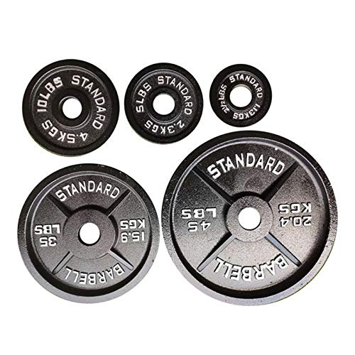Barbell Olympic 2-Inch Weight Plates, A Pair Weightlifting Board - 2.5lb, 5lb, 10lb, 25lb, 35lb