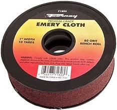 Forney 71805 Emery Cloth, 180-Grit, 1-Inch-by-10-Yard Bench Roll