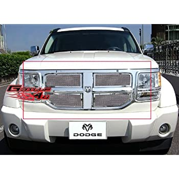 APS Compatible with 2007-2011 Dodge Nitro Black Billet Grille Grill Insert S18-H37466D