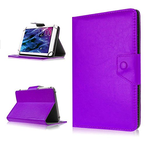 NAUC Tasche für Medion Lifetab P8502 Hülle Tablet Schutzhülle Case Cover Stand, Farben:Lila