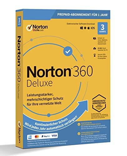 NORTON 360 DELUXE *3-Geräte / 1-Jahr* inkl. 25GB