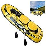 Barca Hinchable Inflable Kayak A La Deriva PVC Duradero Hinchable Challenger Portátil Bote Explorer Balsa Para Rafting Gran Opción Para Los Amantes de La Pesca o Los Deportes Al Aire Libre,220cmx115cm