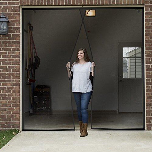 One Single Car Garage Door Screen Weighted Magnetic 9.5 x 7.5 Feet