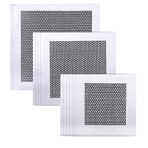 12 Pieces Aluminum Wall Repair Patch Self Adhesive, 4/6/8 inch Fiber Mesh Over Galvanized Plate, Mesh Wall Patches Screen Patch Repair for Walls Ceilings Drywall Wall Patch Stickers Tool