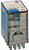 Finder 553490120040 - Relé a spina 4RT 7 A 12 Vdc con pulsante per prova manuale/indicato...