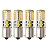 Ba15s 1156 p21/5w 12v LED Ampoule, HRYSPN 5 W Blanc chaud 3000 K 500lm, Feu Recul,Frein Lampe RV, Bateau, Paysages, etc.(Lot de 4)