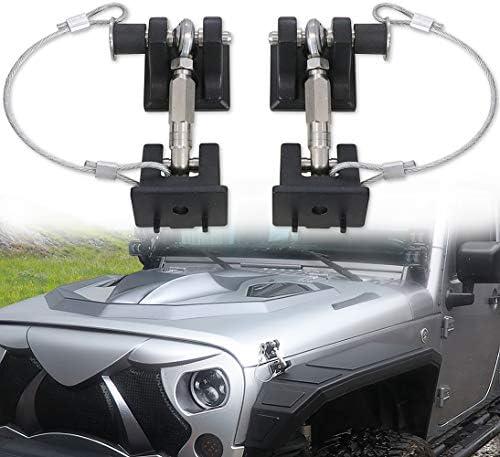 Sukemichi Hood Latches with Lock Hood Locks Pins for Jeep Wrangler JK 2007 2017 Upgrade product image