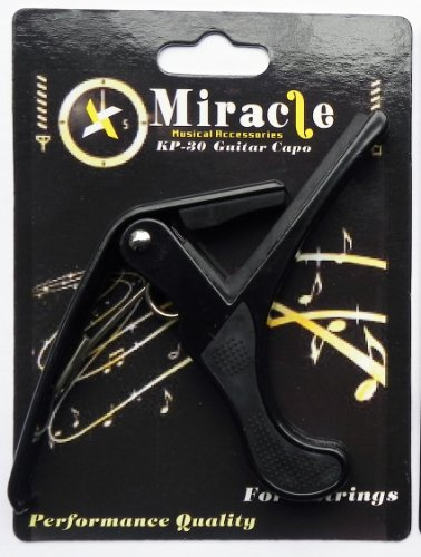 Price comparison product image quick release squeeze capo for electric and acoustic guitars - 3 months guarantee! (Black)