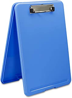 Clipboard with Storage Blue Plastic Storage Clipboard Form Holder Binder with High Capacity Clip Posse Box-13x9x1 inches Plastic Clipboard for Office Business Professionals Stationer