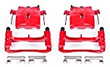 Power Stop S4728 Performance Powder Coated Brake Caliper Set For Chevy, GMC,...