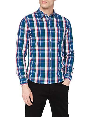 Levi's Classic 1 Pkt Slim Camisa, Quintin True Red, S para Hombre
