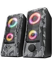 Trust Gaming GXT 606 Javv 2.0 Speaker (RGB LED, USB en 3.5mm Aansluiting, 12W, voor PC/laptop)