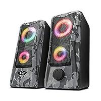 Trust GXT 606 Javv Juego de Altavoces 2.0 con iluminación RGB para PC, 12W, C...