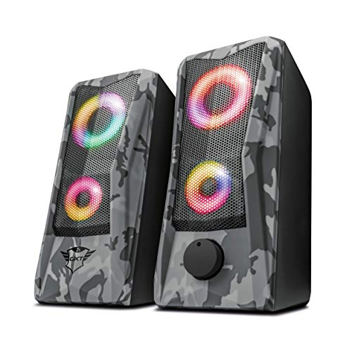 Trust Gaming GXT 606 Javv RGB-Illuminated 2.0 Speaker Set for PC and...