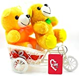 Package Contents-1 Cycle, 2 Teddy(Orange/Yellow), 1 Printed Keychain 100% Premium printing.Lovingly boxed. Handcrafted with the Indian Pride for your loved one's! Great gift for expressing love to friend/spouse or fiance/fiancee on valentine's day, a...