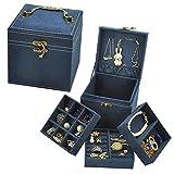 Caja de joyería retro continental de múltiples capas a cuadros pulsera oreja cadena pendientes princesa simple joyería almacenamiento...