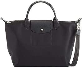 Longchamp 'Large Le Pliage Neo' Nylon Top Handle Tote Shoulder Bag, Black