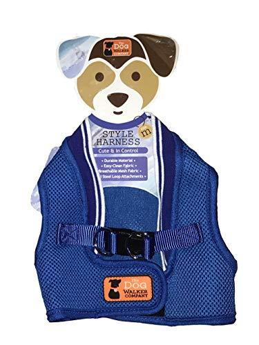 The Dog Walker Company Cobalt Blue Harness Vest Medium