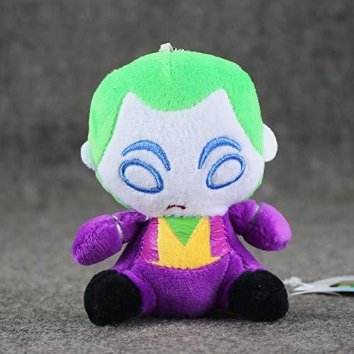 Juguete De Peluche 10Cm Caballero Joker Juguete De Peluche Q Versión Joker Carácter De Llavero con Encanto De Felpa