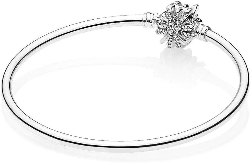 Pandora bracciale da donna rigido fiocco di neve in argento sterling 925 597763CZ-17