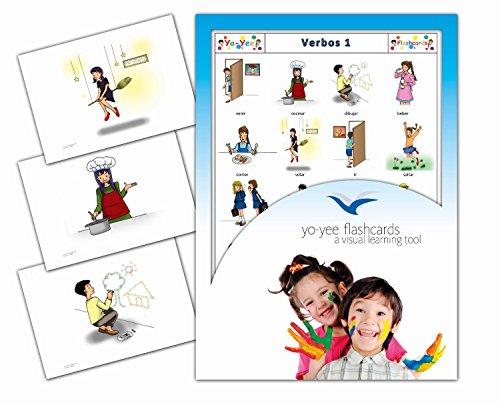Yo-Yee Flashcards Tarjetas con Ilustraciones en español - Verbos 1 - para Clases de Idiomas y fomento del Aprendizaje del Idioma en guarderías, escuelas Infantiles y colegios