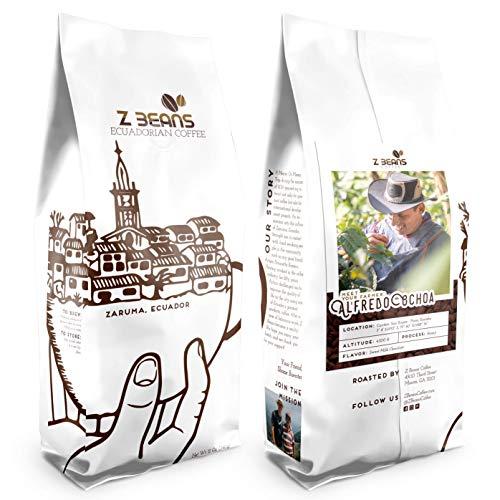 Z Beans Coffee - Ecuadorian Coffee - Specialty Whole Bean Coffee (12oz. Bag) - Single Origin - High Altitude Grown - 100% Processed Organic - 100% Farmer Validated (Honey Processed)