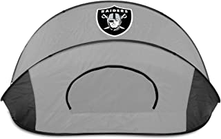 NFL Oakland Raiders Manta Portable Pop-Up Sun/Wind Shelter, Black/Gray
