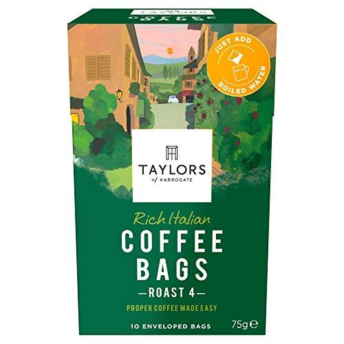 Taylors of Harrogate Rich Italian Coffee Bags - 10 Enveloped Bags (Pack of 3, Total of 30 Coffee Bags)