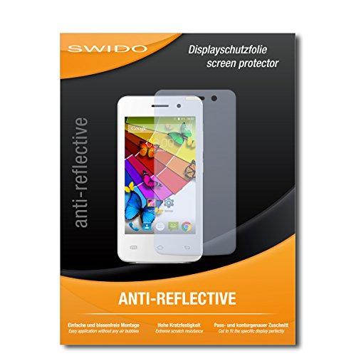 SWIDO Schutzfolie für Mobistel Cynus E4 [2 Stück] Anti-Reflex MATT Entspiegelnd, Hoher Festigkeitgrad, Schutz vor Kratzer/Bildschirmschutz, Bildschirmschutzfolie, Panzerglas-Folie