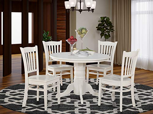 5 Pc small Kitchen Table and Chairs set-Round Table and 4 Kitchen Chairs