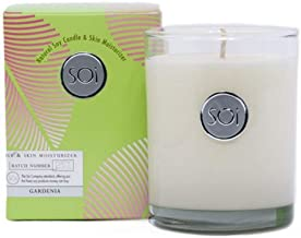 SOI Company Natural Soy Candle, 13.5 Ounce Boxed Highball Jar White
