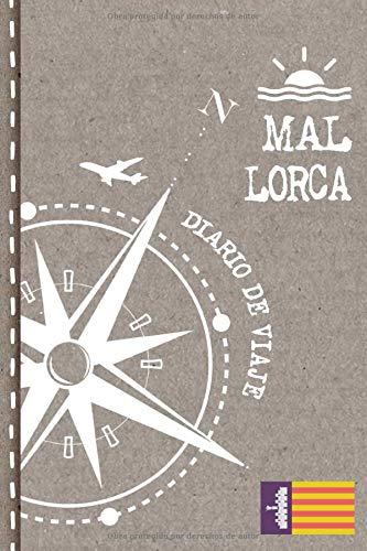 Mallorca Diario de Viaje: Libro de Registro de Viajes - Cuaderno de Recuerdos de Actividades en Vacaciones para Escribir, Dibujar - Cuadrícula de Puntos, Bucket List, Dotted Notebook Journal A5