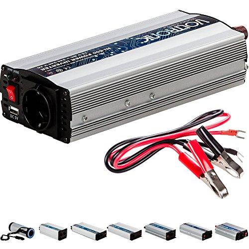 VOLTRONIC® MODIFIZIERTER Sinus Spannungswandler 600W mit E-Kennzeichen, 12V auf 230V, USB, Stromwandler Inverter Wechselrichter Auto PKW