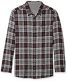 Original Penguin Men's Big and Tall Long Sleeve Plaid Flannel Button Down Shirt, True Black Reversible Bright, 4XLT